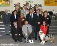 Best in Show winner - australian shepherd, owner: Patrik Panýrek, CZ